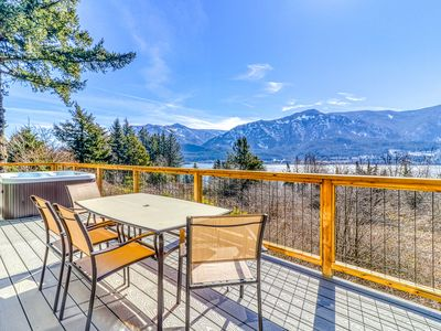 Photo for Enjoy breathtaking views from this dog-friendly home w/ a private hot tub