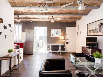 Photo for Modern and spacious design flat close to Camp Nou