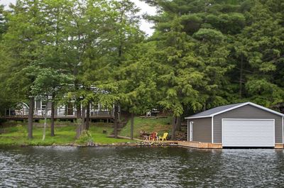 Exterior and Boathouse from the Water