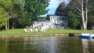 Photo for Beautiful Home On South Lake Leelanau Direct Waterfront, Private Rd
