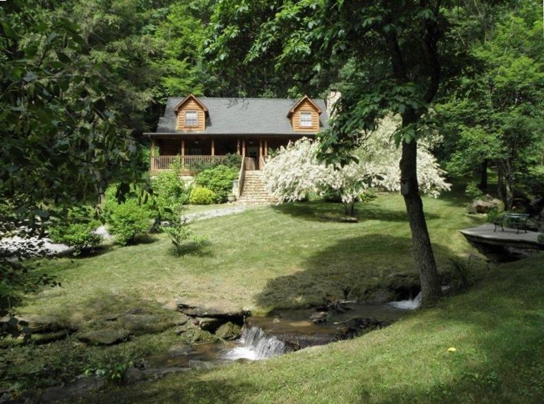 Maggie valley waynesville front creek com cachoeira Cabin creek 15