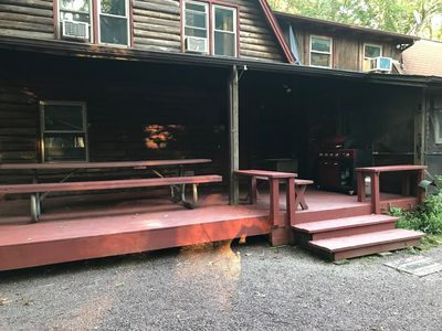 Back Deck Area for dining/grilling and playing!