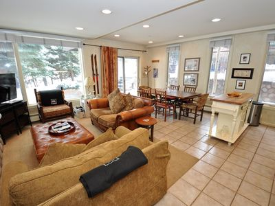 Photo for Lovely Vail Village Creekside 2 Bedroom Condo with Hot Tub and Pool.