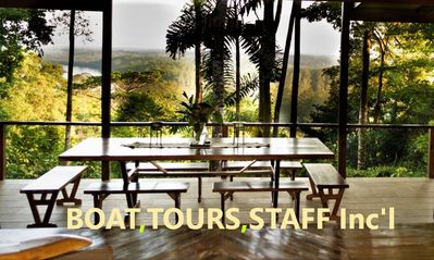 Photo for Boat,Tours & Staff Included! Luxury Rainforest & Waterfront Hm,Adventure Awaits!