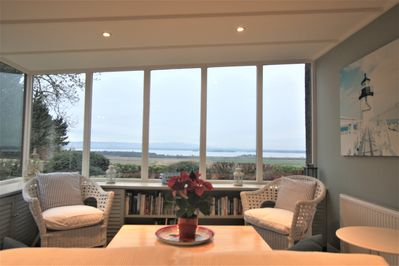 Enjoy the Loch views from the sunroom
