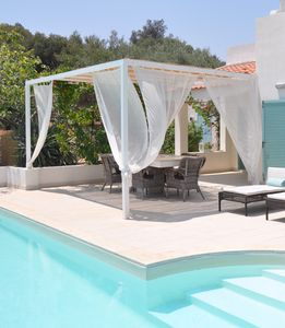 Photo for Villa with 2 private pools, hydro massage, outdoor cinema, bocce & playground