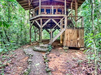 Photo for Eco-friendly rental in the jungle w/outdoor seating overlooking the nature!