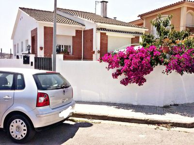 Photo for Beautiful Coastal House in Pineda de Mar with large and flowered terrace