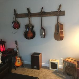 Feel free to play any of the many instruments in the house.