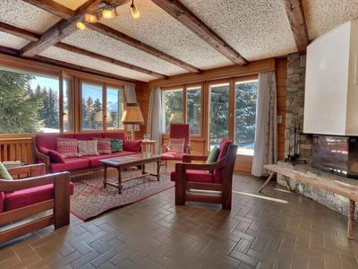 """Photo for 3 nice piece apartment on the ground-floor of the chalet, near to teleski """"Le Rouge"""".  Composition"""