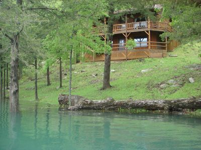 Photo for Lake Shore Cabin on Beaver Lake in Eureka Springs Ar with Dock