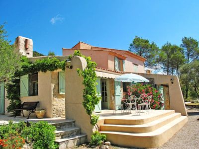 Photo for 4 bedroom Villa, sleeps 8 in Forcalqueiret with Pool, Air Con and WiFi