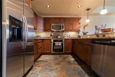 Kitchen with Granite & Gas Range!