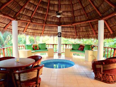 Photo for Secluded Casita in Lush Garden, Palapa, Small Pool, Near Beach