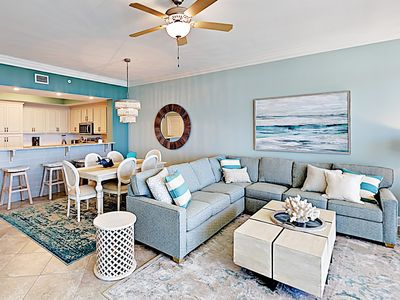 Photo for Brand-New Condo w/ Gulf-Front Balcony - Pools, Hot Tub, Tennis & Lazy River