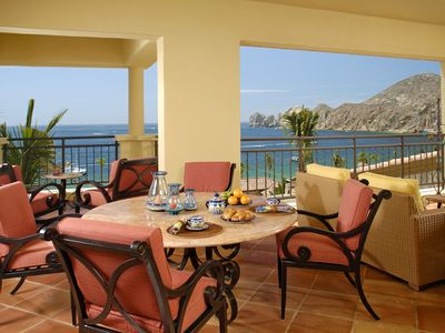 Terrace w/ fantastic ocean view of Lands End and Sea of Cortez