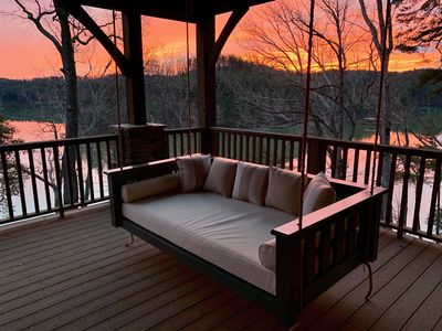Sunset from middle level porch.