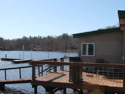 Photo for NEW LISTING! Retreat with boat ramp and dock, lakefront location!