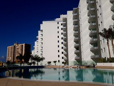 Photo for OCEAN GARDEN 303 wi-fi, Pool, Terrace, Garage, Playa Paraiso, 200mt from the sea
