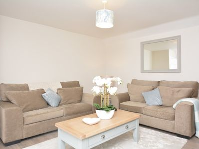 Relax on the comfy sofas and perhaps watch a film or programme on the Smart TV