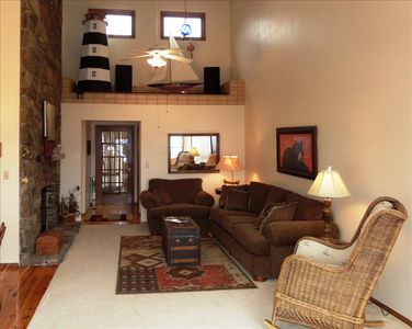 Photo for Honey Creek - Amazing Views of Beaver Lake from Living Room, Master, and Large Deck, Satellite, WiFi