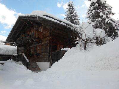Photo for A tradition-abiding and Rustic Tyrolean chalet only 300m from the ski lift !!!
