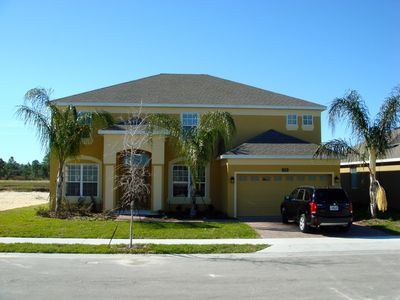 Front view of our villa - 'Watersong' Florida near Walt Disney World.