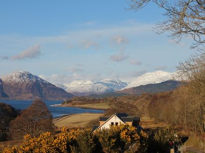 Photo for Creran Reef, a beautifully presented holiday villa with loch views, near Oban.
