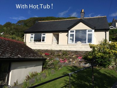 Photo for Lovely cottage in Snowdonia, private hot tub, by mountains & award winning beach