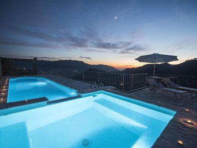 Photo for Charming farmhouse in the hills with private pool, sea view, dreamy landscape