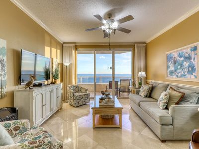 Photo for Gulf-front condo w/ Netflix, indoor/outdoor pools & boardwalk to the beach!