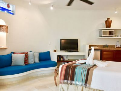 Photo for Amazing studio with ocean view, in the heart of Playa del Carmen.