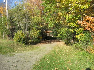 Driveway to cabins.