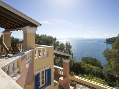 Photo for Stunning Corfu villa, unique location, pool, private beach