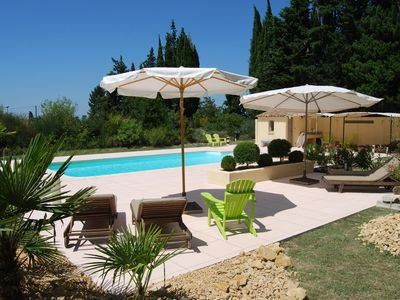 Photo for Gîte with friends room in stately villa with pool and parkgarden