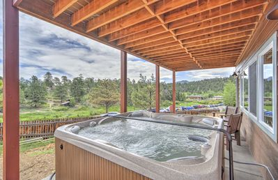 Photo for Great views from 2 decks, block from town, across from nature preserve, Hot Tub!