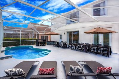 Poolside Patio w/ BBQ grill & seating for 24