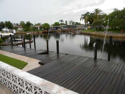 View from back porch and floating dock