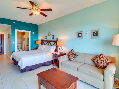 Photo for Origin studio w/ shared pool and hot tub, walk to beach across the street!