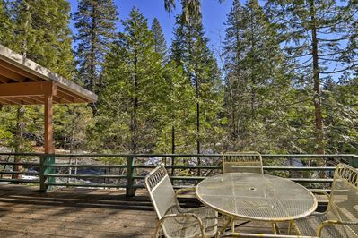 Soak up the calming atmosphere of nature on the private furnished deck.
