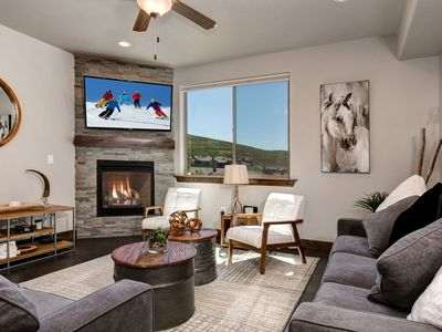 Photo for Brand New Condo w/ Hip Interior-Hiking Trails, Hot Tub,  Minutes to Park City