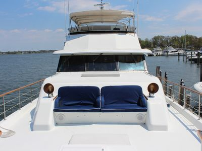"""Photo for Unique Luxury Boat and Bed 78' Motor Yacht """"Laid Off"""" with Hottub upto 10 Guests"""