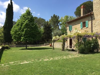Photo for Charming farmhouse with pool between Florence and Arezzo.