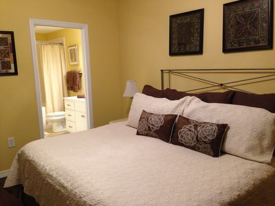 Master suite with slider to patio & beach/ocean view.