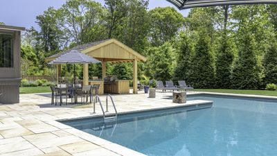 Photo for New Listing: Private Shinnecock Bay Beach Access, Pool, Hot Tub, Outdoor Kitchen & Bar, Bocce Court