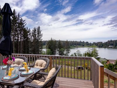Photo for Peaceful Lake Retreat with Stunning Views! Pet Friendly, Walk to Siltcoos Lake, Relaxing Deck w/BBQ