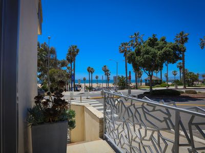 Photo for Ocean View, Private Patio, steps to  Santa Monica Beach