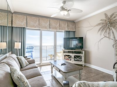 Photo for Corner 3BD Gulf Front Condo, Beautiful Coastal Decor! Walk to Hangout and more!