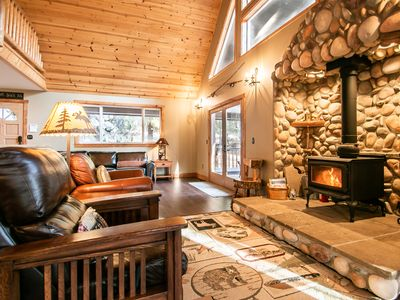 Photo for Boulder Lodge W/ Wi-Fi and Private Hot Tub, Game Room and Sauna