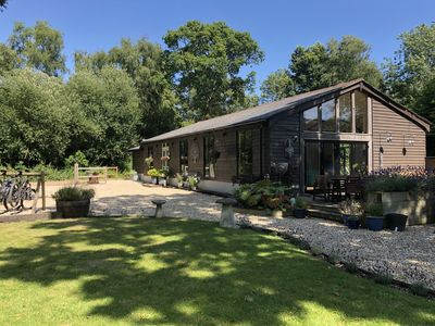 Photo for Forest Location  near the Jurassic Coast *Kids Play Area * Decking *Fire pit